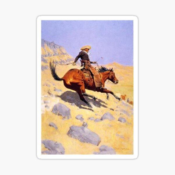 Cowboy Vintage Artwork Horse Wild West Sticker