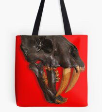 Smilodon fatalis, the Sabre Toothed Cat Tote Bag