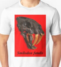 Smilodon fatalis, the Sabre Toothed Cat Unisex T-Shirt