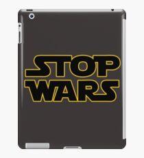 stop wars parody star wars peace iPad Case/Skin