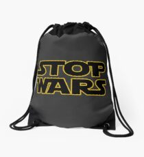 stop wars parody star wars peace Drawstring Bag