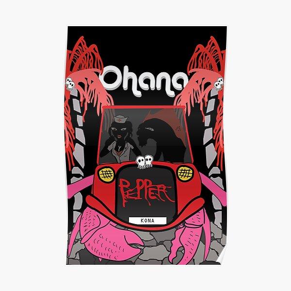 Pepper Kona Car Poster