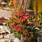 USA. Pennsylvania. Philadelphia Flower Show 2015. Table with Protea flowers. by vadim19