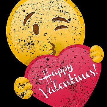 Emoticon Happy Valentines Shirt Valentine Day Shirt by shoppzee