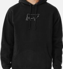 White Cow Silhouette  Pullover Hoodie