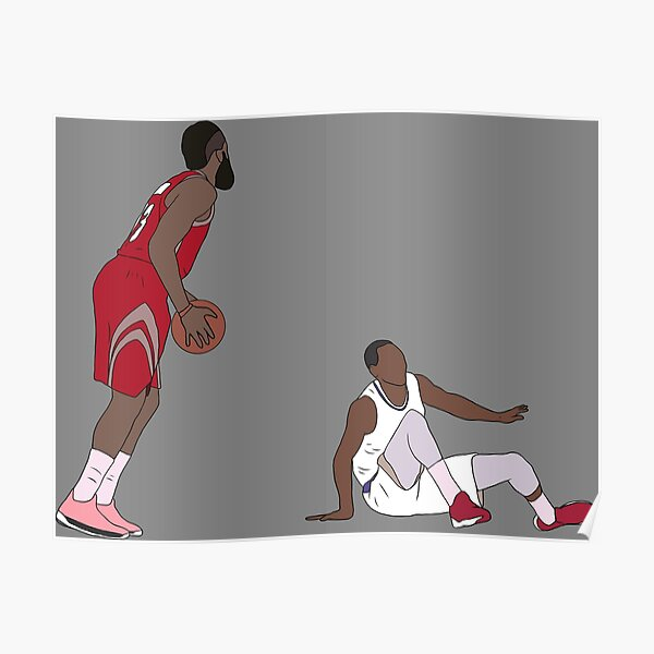 James Harden Crossover On Wesley Johnson Poster
