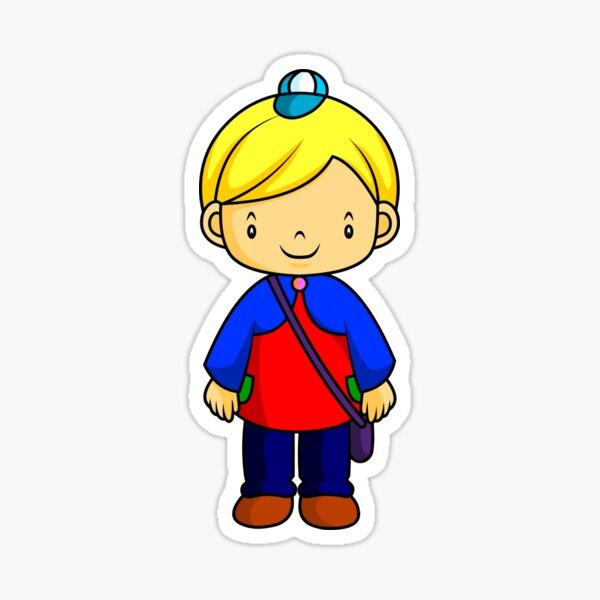 Blonde Child Sticker