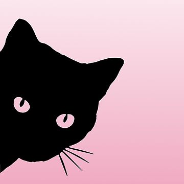 Awesome Cat is Watching You Pink  by PopArtdom