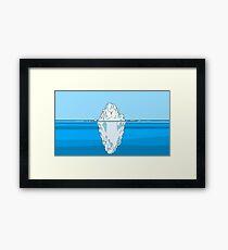 Tip of Iceberg Framed Print