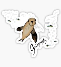 Galapagos Sea lion and bubbles Sticker