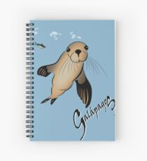 Galapagos Sea lion and bubbles Spiral Notebook
