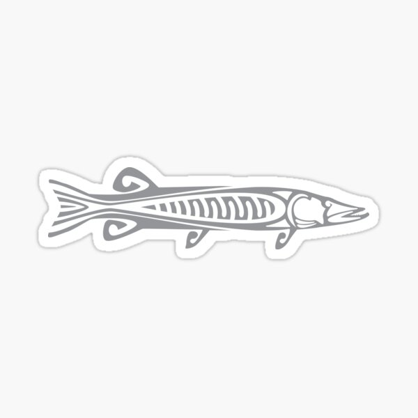 Tribal Musky Grey Glossy Sticker
