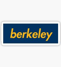 University of California Berkeley Cal Supreme box Logo Sticker