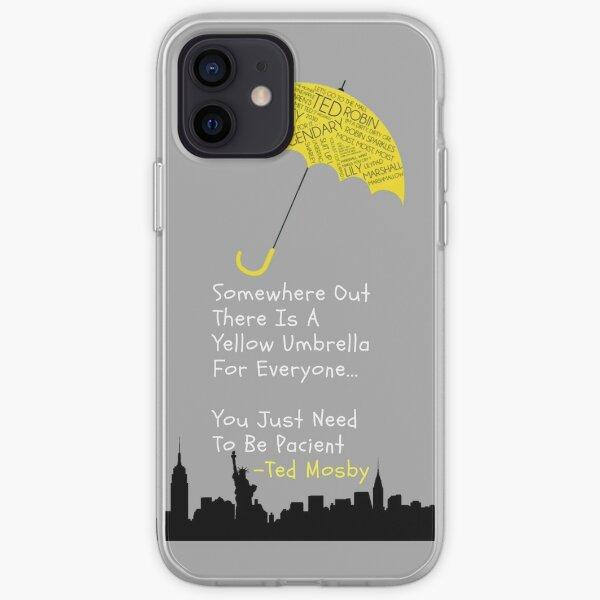 Comment j'ai rencontré votre mère Parapluie jaune Coque souple iPhone