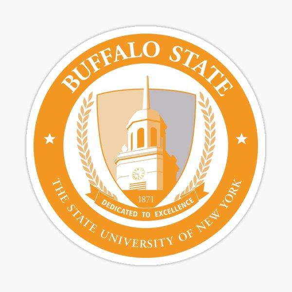 SUNY Buffalo State College Emblem - Orange Sticker