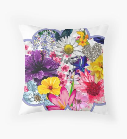 Flower Cloud Throw Pillow