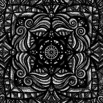 Mandala dark flower by Thoricartist