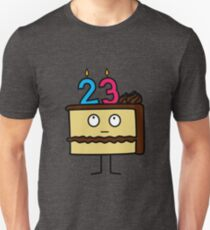 23rd Birthday Cake with Candles chocolate icing Unisex T-Shirt