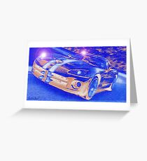 Blue-Neon-Nights-Car-Justin Beck-picture-2015106 Greeting Card