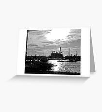 Domino Sugar in Black and White Greeting Card