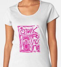 Stark Raving Lino Cut Premium Scoop T-Shirt
