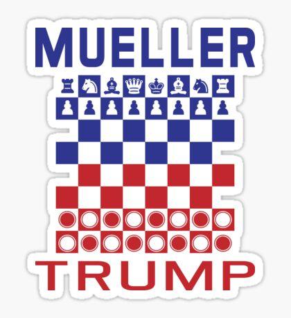 Mueller Chess Trump Checkers Sticker