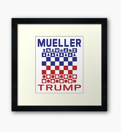 Mueller Chess Trump Checkers Framed Print