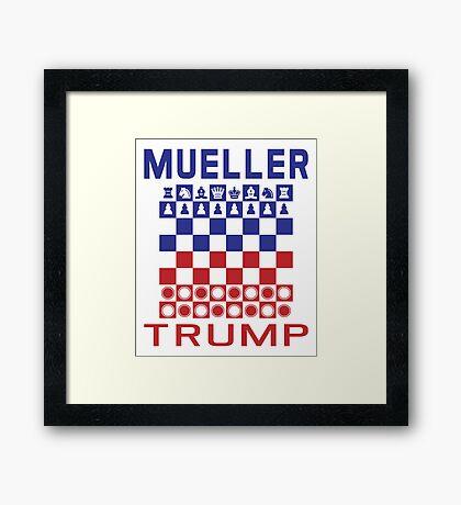 Mueller Chess Trump Checkers Framed Print