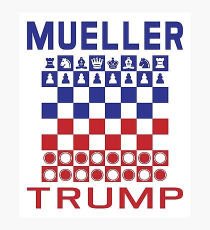 Mueller Chess Trump Checkers Photographic Print