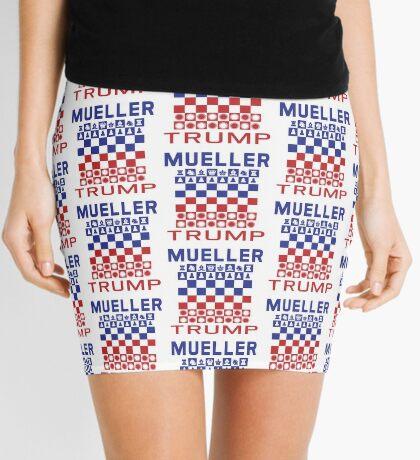Mueller Chess Trump Checkers Mini Skirt