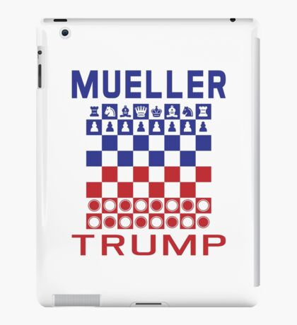 Mueller Chess Trump Checkers iPad Case/Skin