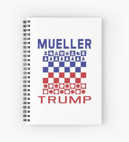 Mueller Chess Trump Checkers Spiral Notebook