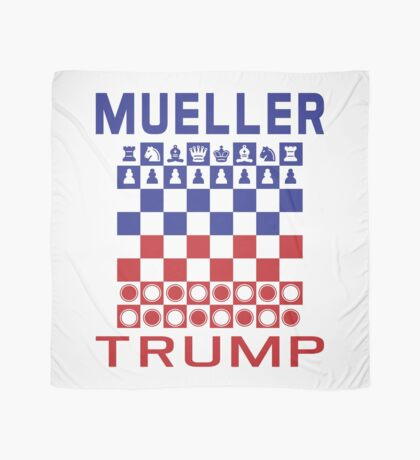 Mueller Chess Trump Checkers Scarf