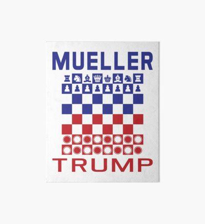 Mueller Chess Trump Checkers Art Board