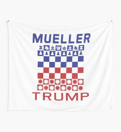 Mueller Chess Trump Checkers Wall Tapestry