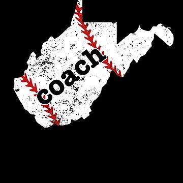 West Virginia Tee Baseball Coach Shirt Softball Coach Shirt by shoppzee