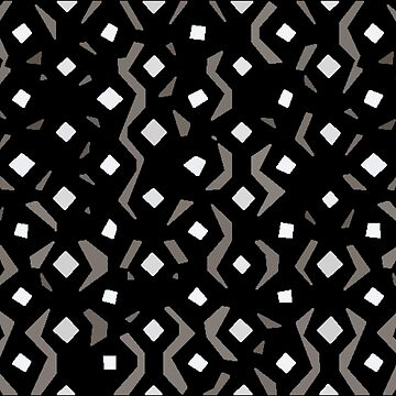 Abstract Black, White and Grey Design  by deecdee