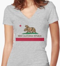 Classic New California Republic Women's Fitted V-Neck T-Shirt