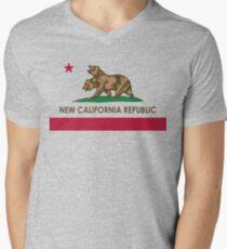 Classic New California Republic Men's V-Neck T-Shirt