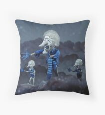 Snow Miser & Mini Mees Throw Pillow