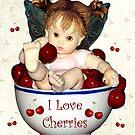I Love Cherries by Glenna Walker