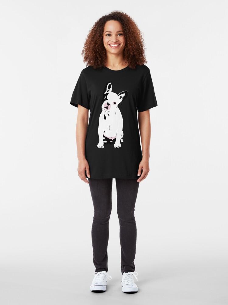 Alternate view of French Bulldog  Slim Fit T-Shirt