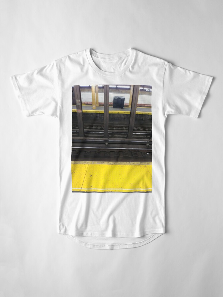 Alternate view of Track, railway, railroad, permanent way, structure, rails, fasteners, railroad ties Long T-Shirt
