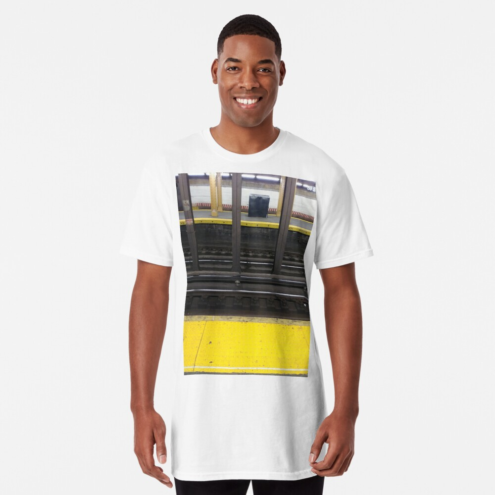 Track, railway, railroad, permanent way, structure, rails, fasteners, railroad ties Long T-Shirt