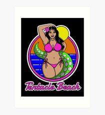 Tentacle Beach Art Print