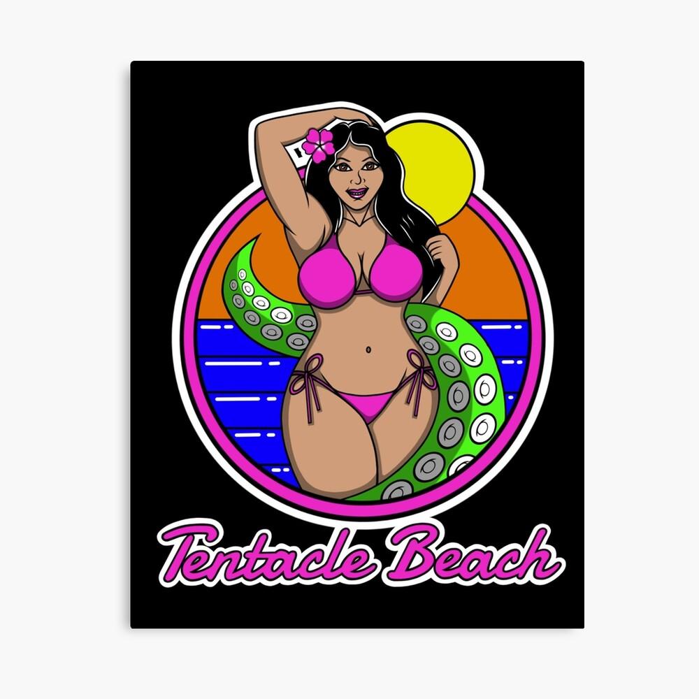 Tentacle Beach Canvas Print