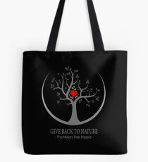 Give Back to Nature Logo - Dark Background Tote Bag