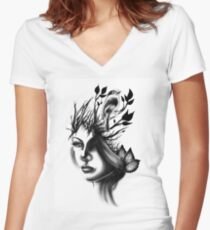 Branching out Women's Fitted V-Neck T-Shirt