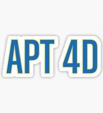 Apt 4d Sticker