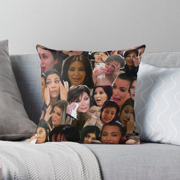 Kardashian's Crying Collage  Throw Pillow